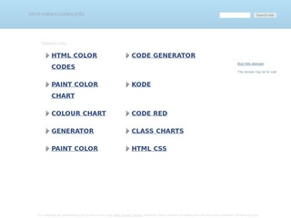 HTML COLORS CODES - on your page.
