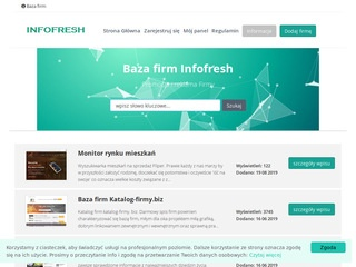 Katalog firm, baza Infofresh.pl