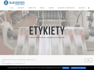 Etykiety peel-off Blue System