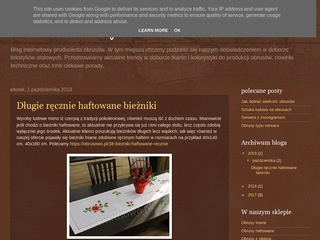 Blog producenta obrusów