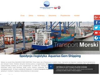 AQUARIUS GEM SHIPPING transport intermodalny