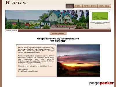 """Gospodarstwo agroturystyczne """"W zieleni"""" Kotlina Kłodzka"""