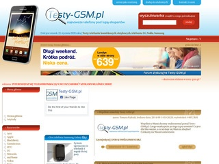 Testy-GSM.pl – Nokia, Samsung, LG, Sony Ericsson, HTC, iPhone, Android
