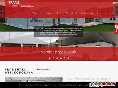 Wynajem hal magazynowych i namiotów - Trans-hall.com.pl