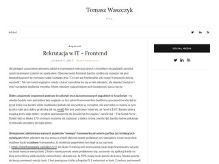 The Official WebSite of Tomasz Waszczyk