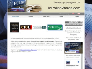 Translation to polish InPolishWords