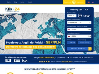 Transfer GBP z UK do Polski