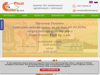 www.centerplast.pl | folia do bel