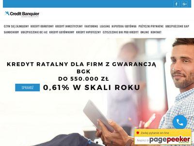 CREDIT BANQUIER - kredyty inwestycyjne dla firm