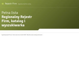 Katalog Firm - Regionalny Rejestr Firm