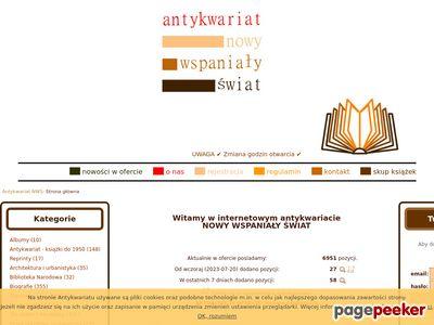 Antykwariat Internetowy Nowy Wspaniały Świat - książki używane, Kraków-Ruczaj